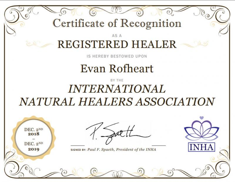 INHA Member - International Natural Healers Association