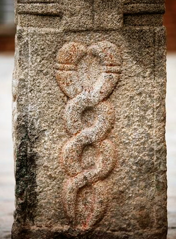 Kundalini Snakes - Temple Carving