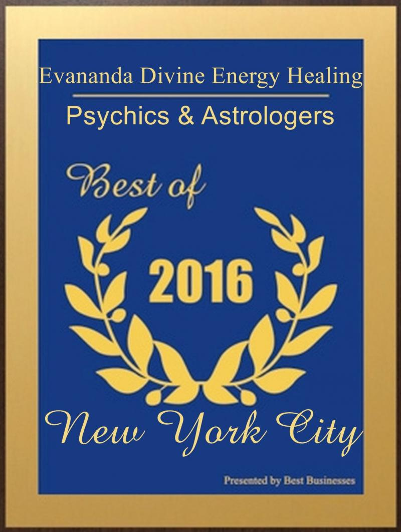 Evananda Divine Energy Healing Receives 2016 Best Psychics of New York City